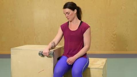 Thumbnail for entry KI Dumbbell wrist flexion exercise