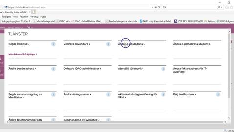 Thumbnail for entry Ändra email adress i IDAC