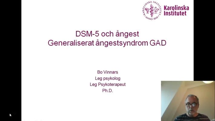 DSM-5 och Ångest. Generaliserat ångestsyndrom_Bo Vinnars