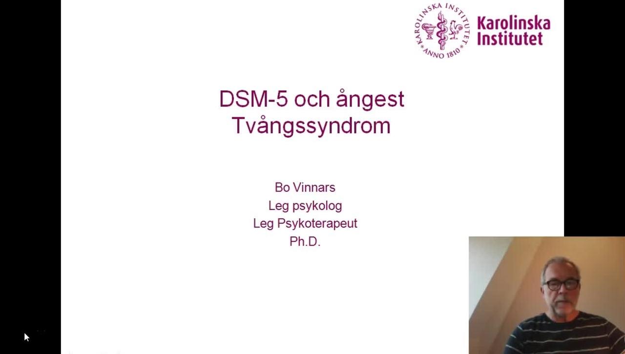 DSM-5 och Ångest. Tvångssyndrom_Bo Vinnars