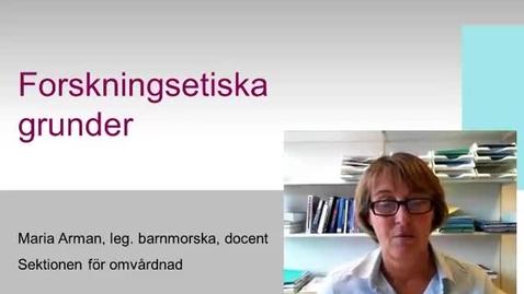 Thumbnail for entry Forskningsetiska grunder - Quiz