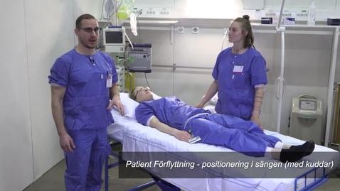 Thumbnail for entry Patient Förflyttning - positionering i sängen (med kuddar)