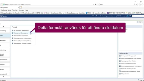 Thumbnail for entry Ändra period på en anknytning i UBW anknutna