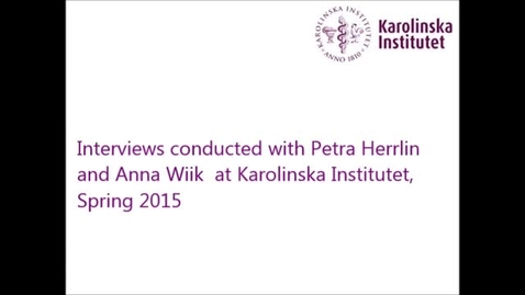 Thumbnail for entry Interview with Petra and Anna