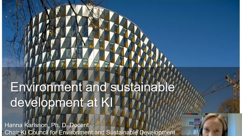 Thumbnail for entry Introduction to Environment and Sustainable Development at KI