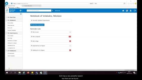 Thumbnail for entry Search-tool KI ELN