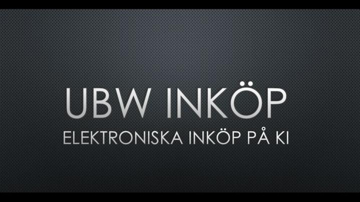 Thumbnail for channel UBW e-handel UBW e-procurement