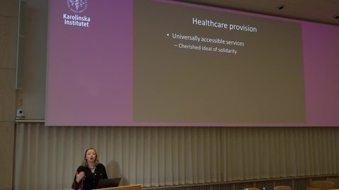 Thumbnail for entry Stockholm Public Health Lectures: Professor Hannah Bradby
