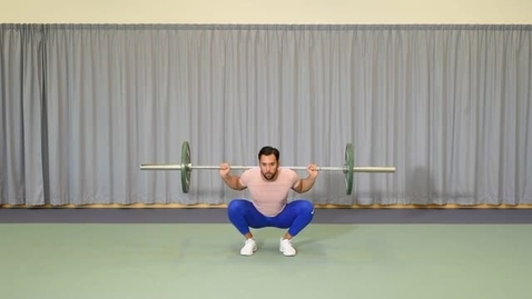 Thumbnail for entry Barbell back squat