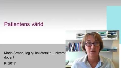 Thumbnail for entry Patientens värld (med undertext)