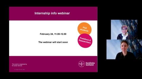 Thumbnail for entry Internship information webinar -February 24