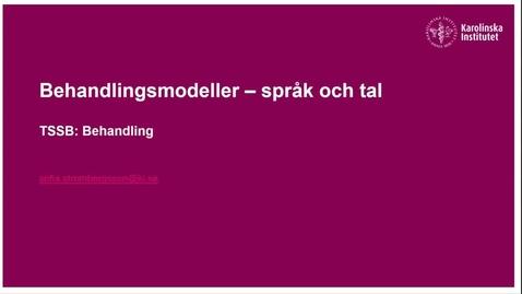 Thumbnail for entry Behandlingsmodeller - Tal och språk