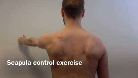 Thumbnail for entry KI Scapula control exercise in standing