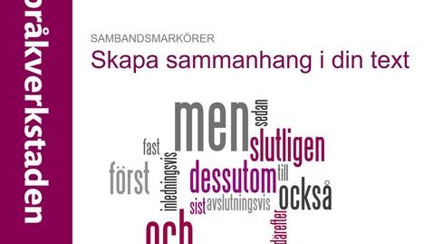 Thumbnail for entry Sambandsmarkörer