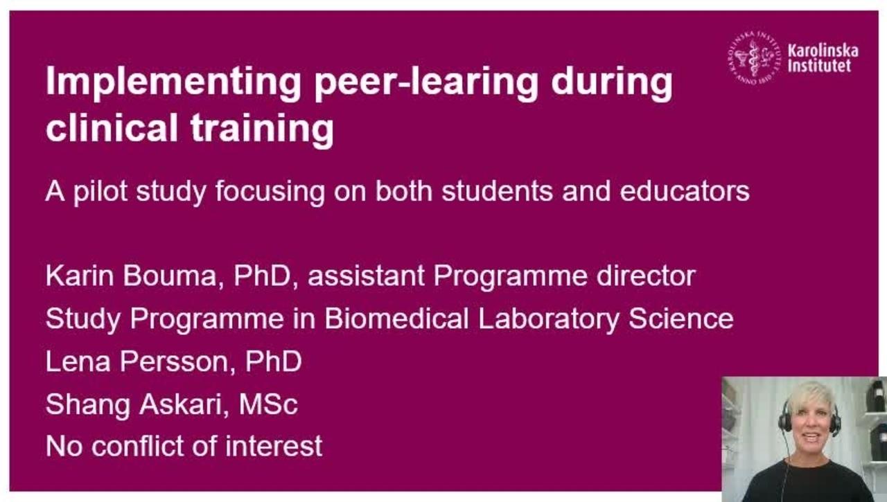Peer-learning - a pilot-study_Karin_Bouma