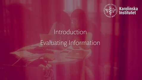Thumbnail for entry Introduction Evaluation information-