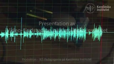 Thumbnail for entry Presentation video ljudstudio Karolinska Institutet