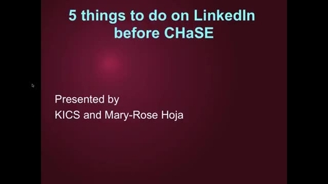 Thumbnail for entry 5 things to do on LinkedIn