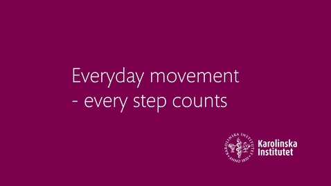 Thumbnail for entry Health Talk 1: Everyday movement