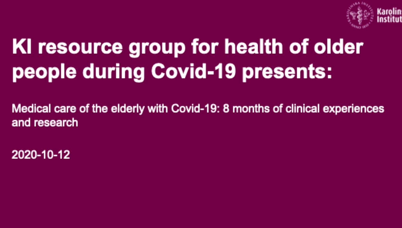 Medical care of the elderly with Covid-19 PART 3 OF 3