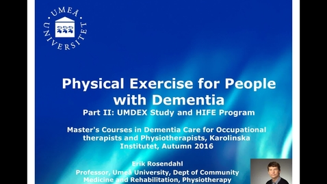 Thumbnail for entry Physical exercise for people with dementia, part 2