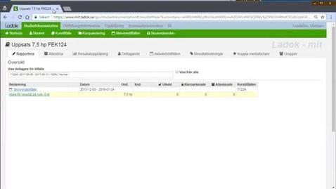 Thumbnail for entry Nya Ladok: Ett webbaserat program