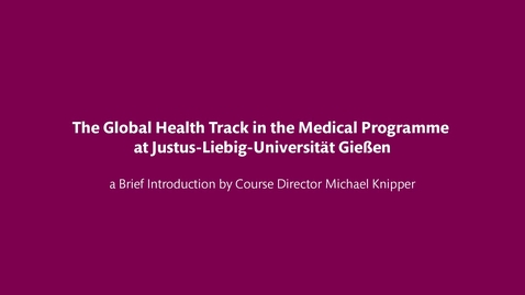 Thumbnail for entry Global Health Track