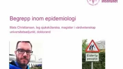 Thumbnail for entry Epidemiologiska begrepp