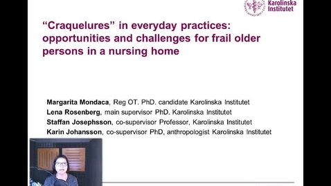 Thumbnail for entry Opportunities and challenges for frail older persons in a nursing home