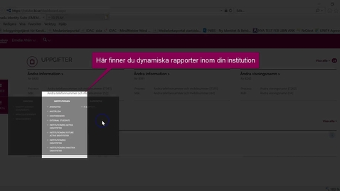 Thumbnail for entry Rapporter i IDAC (dynamiska)