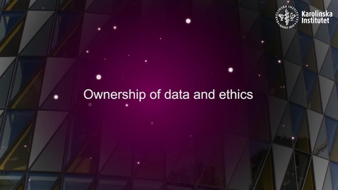 Thumbnail for entry eHealth Ownership of data and ethics
