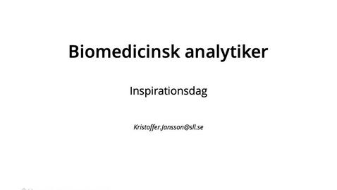 Thumbnail for entry Kortfilm från en tidigare student som läst till biomedicinsk analytiker - inriktning laboratoriemedicin