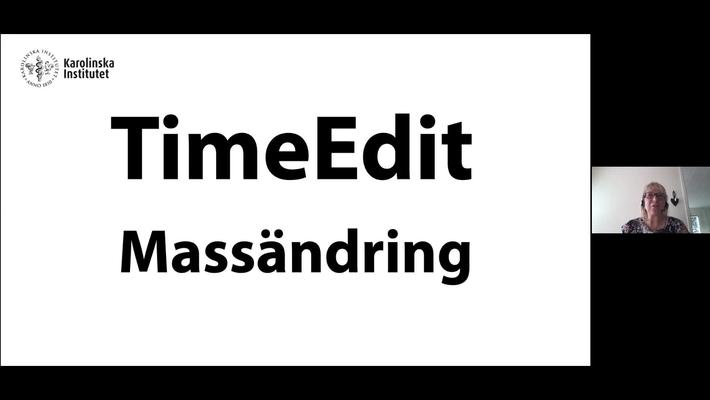 TimeEdit Massändring