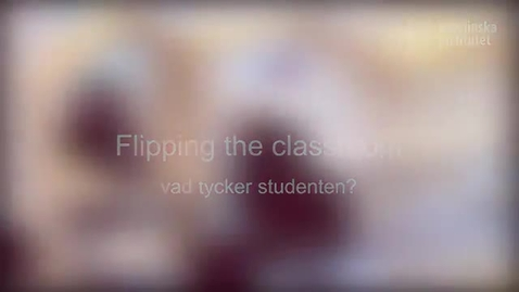 Thumbnail for entry Student view of flipping the classroom