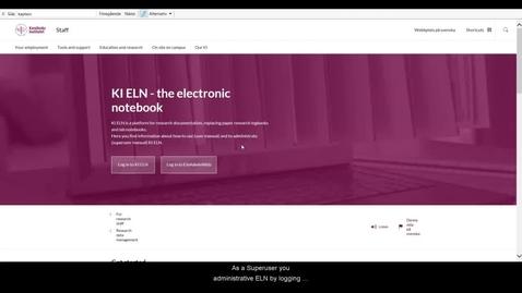 Thumbnail for entry Superuser---login KI ELN