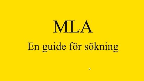 Miniatyr för mediepost MLA