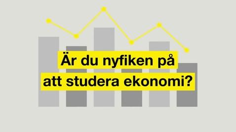 Miniatyr för mediepost Studera ekonomi
