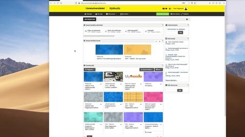 Miniatyr för mediepost Nyheterna i MyMoodle 3.8