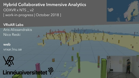 Miniatyr för inlägg Hybrid Collaborative Immersive Analytics (WIP, October 2018)