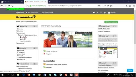 Thumbnail for entry MyMoodle - Lägg till lärare