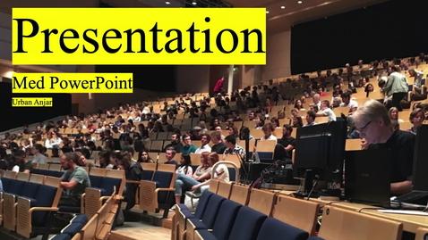 Miniatyr för mediepost Presentation med PowerPoint