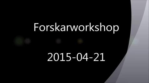 Miniatyr för mediepost Forskningsdata – hantering, publicering och upphovsrätt. En inspelning från ett halvdagsseminarium 2015-04-21.