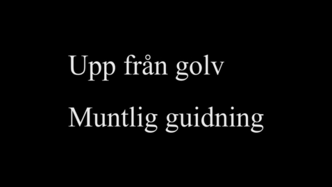 Thumbnail for entry 7A Upp från golv - muntlig guidning