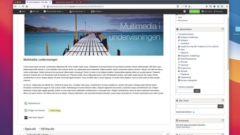 Miniatyr för mediepost H5p - skapa interaktivt innehåll i ditt kursrum /Create interactive content in your course room