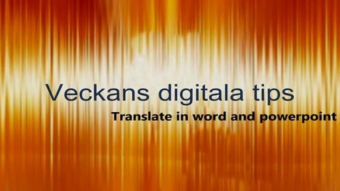 Miniatyr för mediepost Veckans digitala tips 1