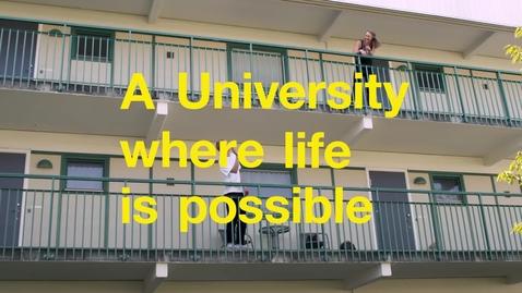 Miniatyr för mediepost A University where life is possible
