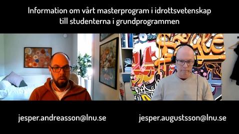Miniatyr för mediepost Information om master i idrottsvetenskap för grundprogrammen VT2020