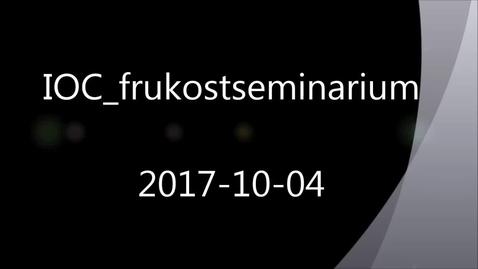Thumbnail for entry Framtidens smarta underhåll 2017-10-04