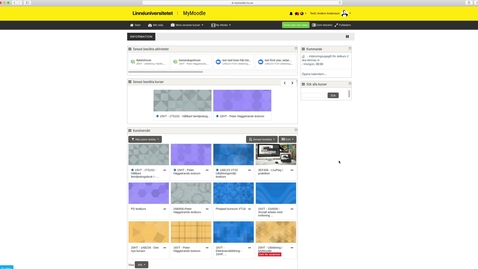 Thumbnail for entry Mymoodle -genomgång del 2 / Mymoodle walkthrough part 2
