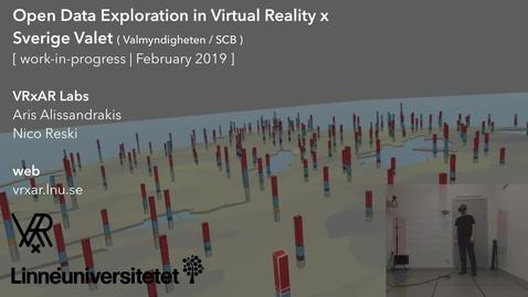 Miniatyr för mediepost Open Data Exploration in Virtual Reality x Sverige Valet (WIP, February 2019)